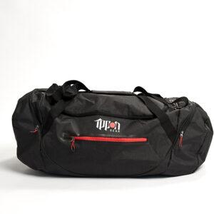 Sporttas Fighter zwart-Rood maat L